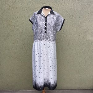 B&W Vintage Knit Dress